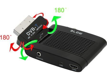 Blow DVB-T 4705HD - obracana głowica pozwla na dowlone ustawienei tunera.