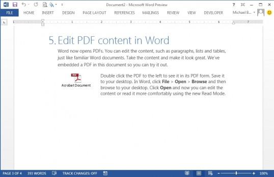 Microsoft Word w Office 2013
