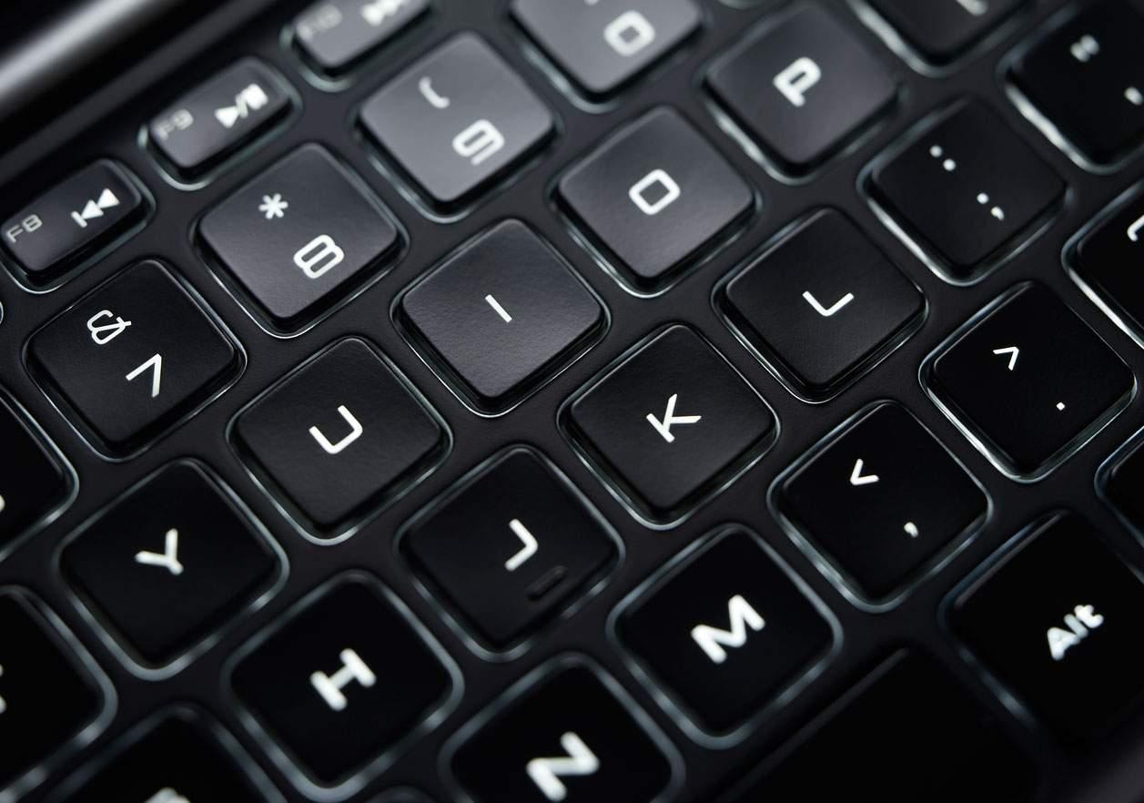 Dell XPS 13 - podświetlana klawiatura