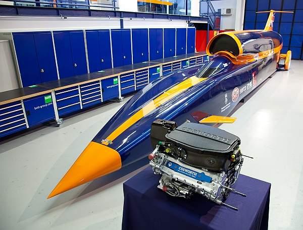 Niektóre elementy konstrukcji superszybkiego pojazdu Bloodhound SSC wykonano za pomocą technologii druku 3D.