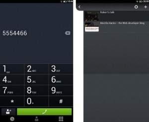 FirefoxOS - ekran wybierania numeru i zakładek