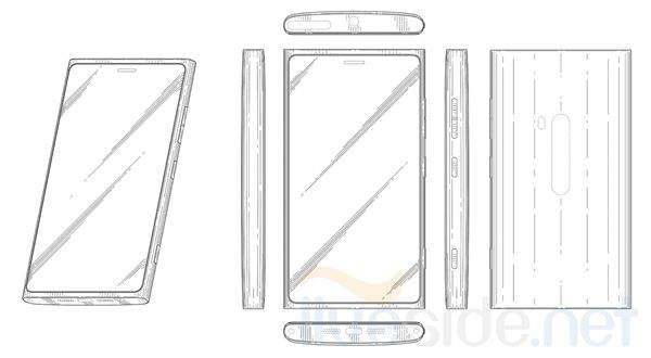 Szkice mające przedstawiać pierwszy smartfon Nokii z Windows Phone 8