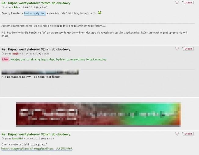 Forum forum nierówne a user userowi wilkiem czyli było sobie dobre forum