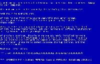 Komunikaty na niebieskim tle są rzadkością w Windows 7. Przyczyną zawieszania się systemu bywały wrażliwe pliki systemowe. Wiele z nich jest dostępnych w obecnych systemach i może być wykorzystanych przez cyberprzestępców do zaatakowania komputera.