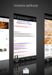Aby zobaczyć pozostałe aplikacje działające w twoim smartfonie, po prostu przytrzymaj nieco dłużej naciśnięty przycisk Home.