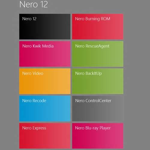Nero 12 przygotowany do współpracy z Windows 8