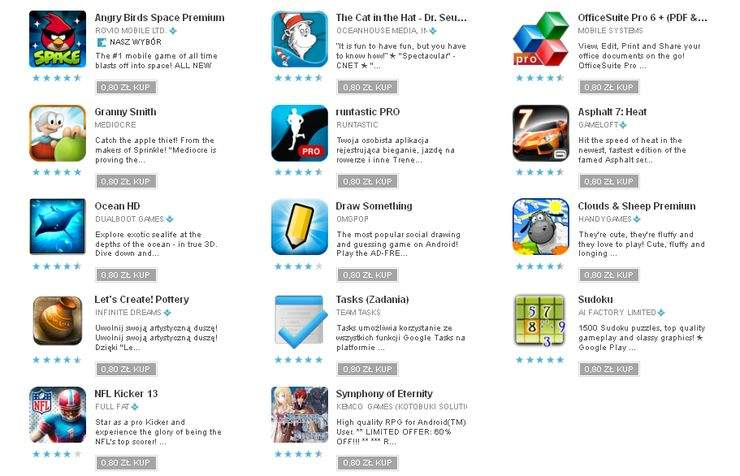 Promocyjna oferta Google Play