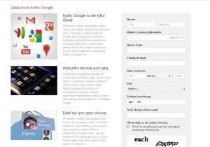 Rejestracja konta w Gmail