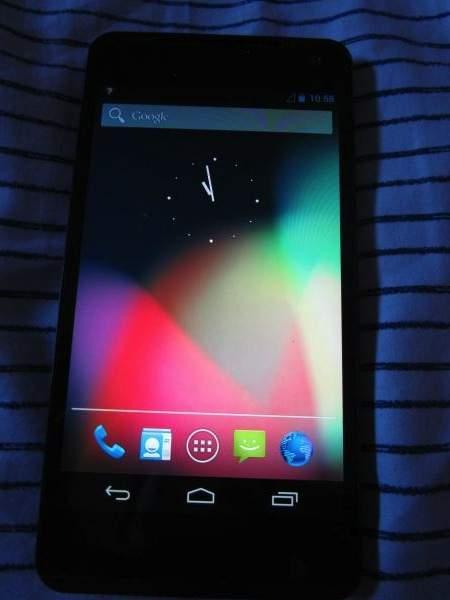 Prototypowy smartfon LG (być może Optimus G Nexus)