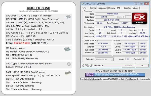 AMD FX-8350 został podkręcony do 8,176 GHz