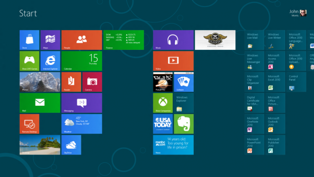 Windows 8 - ekran startowy