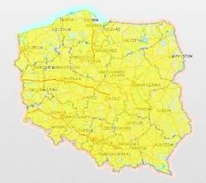 Mapa dostępności internetu w Polsce (źródło: UKE)