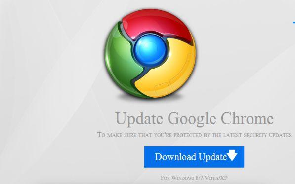 Fałszywa aktualizacja Google Chrome