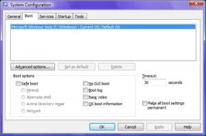 Rozruch bez interfejsu GUI (Vista)