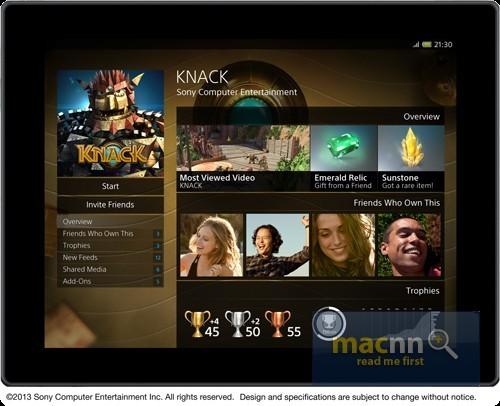 PlayStation 4 - interfejs użytkownika