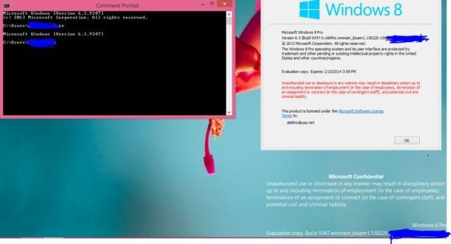 Windows Blue build 9347