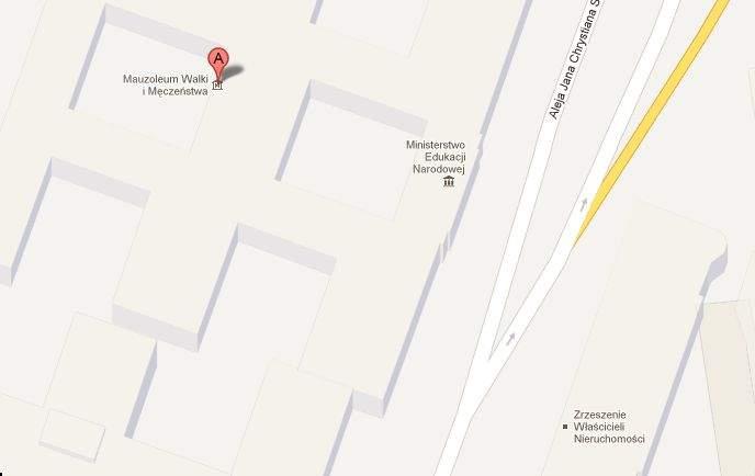 Mapa Google po poprawkach