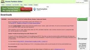 Autorzy programu GParted ostrzegają, aby do modyfikowania partycji nie używać wersji 0.15.0.