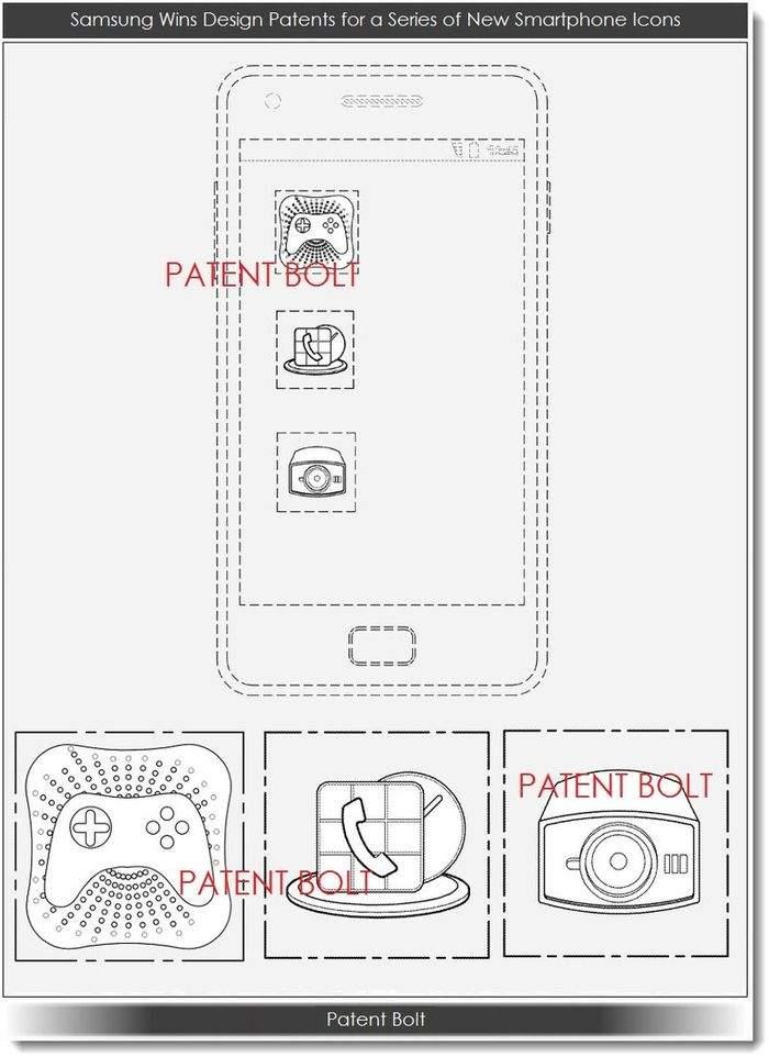 Samsung, patent ikony