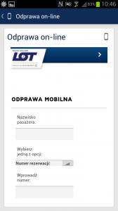 Aplikacja mobilna LOT