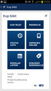 Strona mobilna LOT