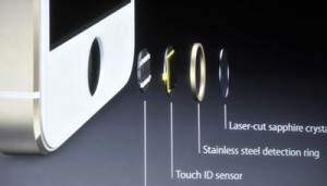 iPhone 5S- czytnik linii papilarnych