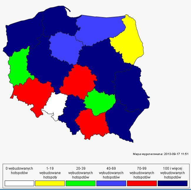 Hotspoty w poszczególnych województwach