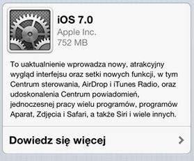 Aktualizacja do iOS 7.0