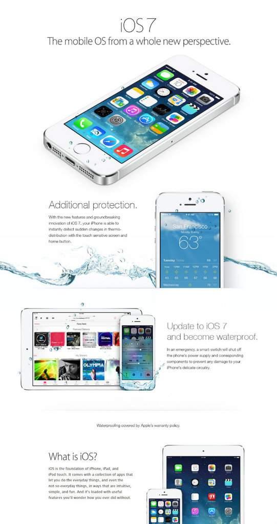 iOS 7 - wodoodporny iPhone