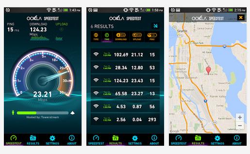 Test szybkości internetu Speedtest.net z nową aplikacją na Androida