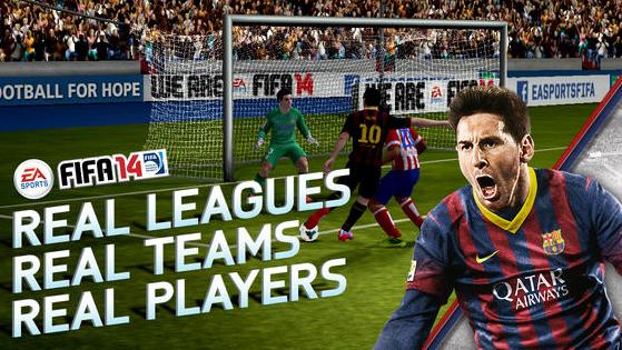 Najnowsza FIFA 14 w wersji na Androida i iOS dostępna jest bezpłatnie