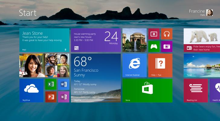 Windows 8.1 jest nadzieją Microsoftu na wzrost sprzedaży komputerów