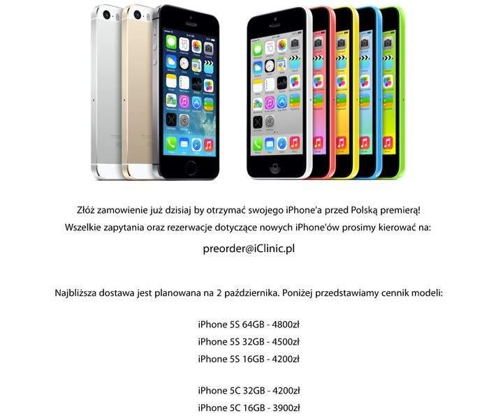 Apple iPhone 5S w przedsprzedaży
