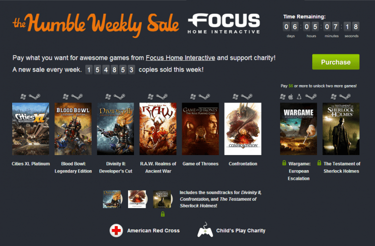 Najnowsze Humble Bundle Weekly Sale i gry Focus Home Interactive
