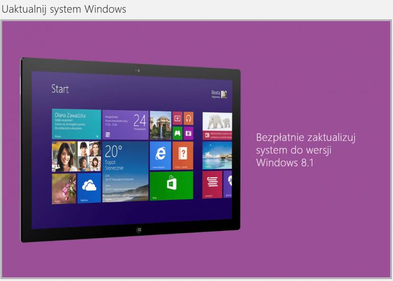 Windows 8.1 jest już dostępny i mogą go pobrać posiadacze poprzedniej wersji