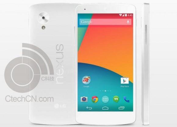 Nexus 5 także w białym kolorze