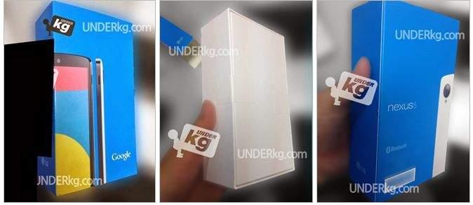 Google Nexus 5 - pudełka