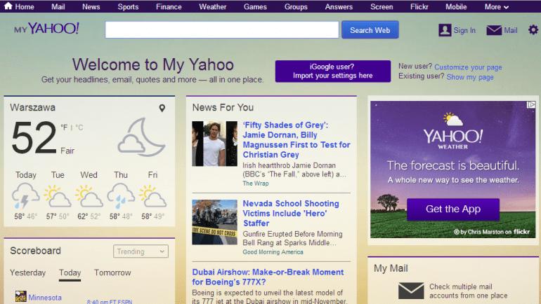 Będziesz tęsknił za iGoogle? Powinieneś sprawdzić My Yahoo!