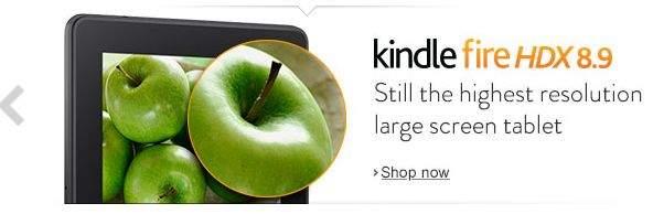 """Kindle Fire HDX 8,9"""" dysponuje ekranem o wyższej rozdzielczości niż iPad Air"""