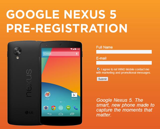 Google Nexus 5 pojawia się u pierwszego zagranicznego operatora