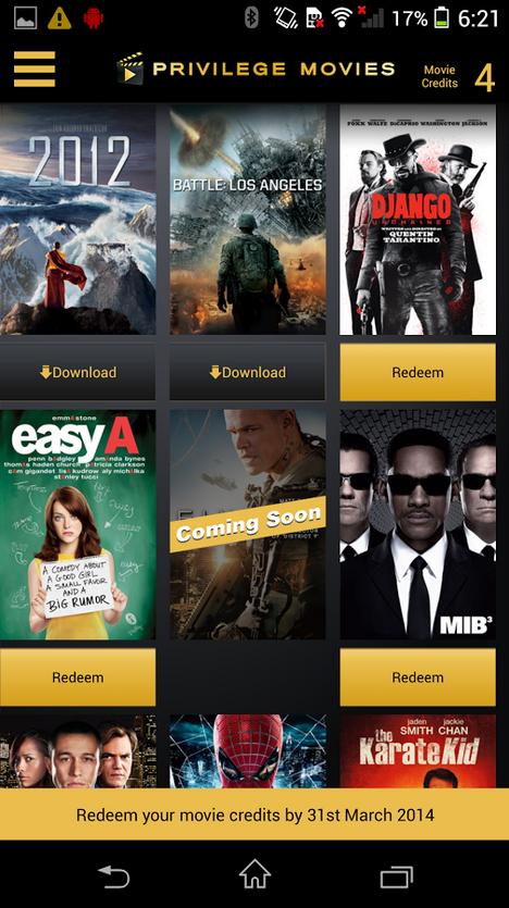 Sony Xperia Z1 Priviledge Movies