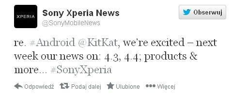 Sony zapowiada Androida 4.4 KitKat