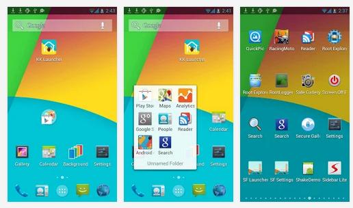 Launcher wyglądający jak z Androida 4.4 KitKat na starszych telefonach