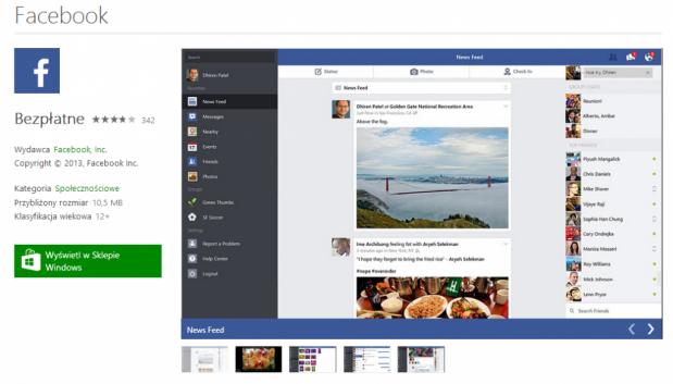 Windows 8.1: Nowa wersja kafelkowej aplikacji Facebook