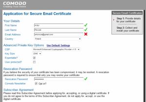 Certyfikat Comodo