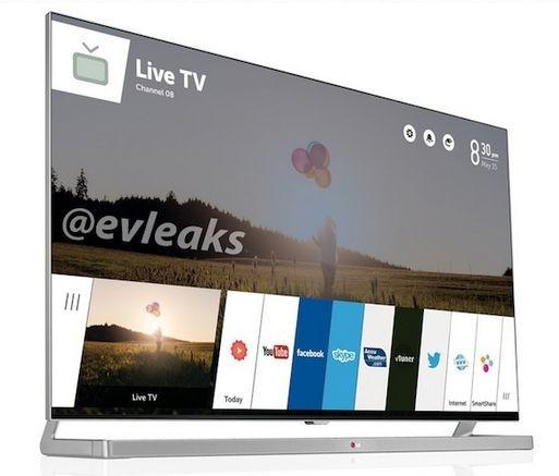 Telewizor LG Smart TV z webOS na zdjęciu