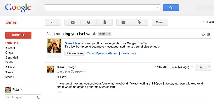 Gmail pozwoli na wysyłanie poczty do innych osób bez podawania ich adresu email