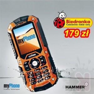 myPhone Hammer - pancerny telefon polskiej firmy wkrótce w ofercie Biedronki. Cena: 179 zł