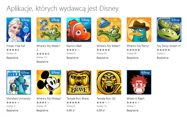 Darmowe gry na smartfony z Windows Phone od Disney'a