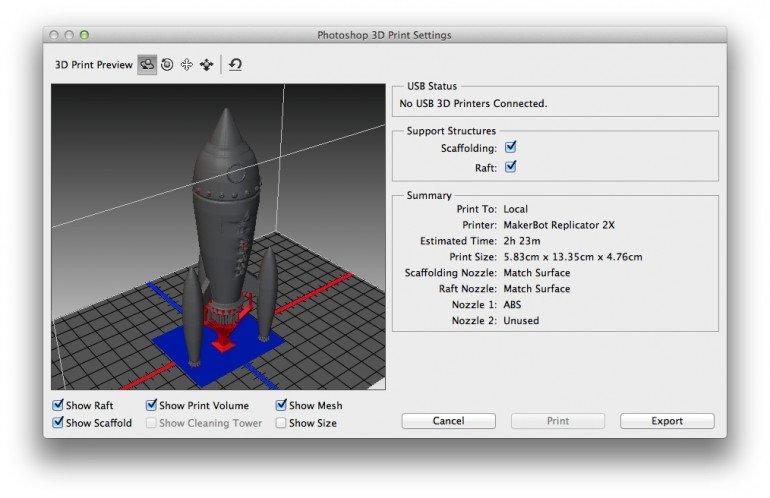 Druk 3D prosto z Adobe Photoshop możliwy po aktualizacji